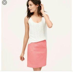 Loft • Candy Dot Shift Skirt